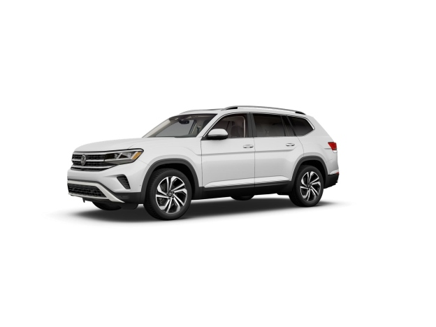 Pure white 2021 Volkswagen Atlas