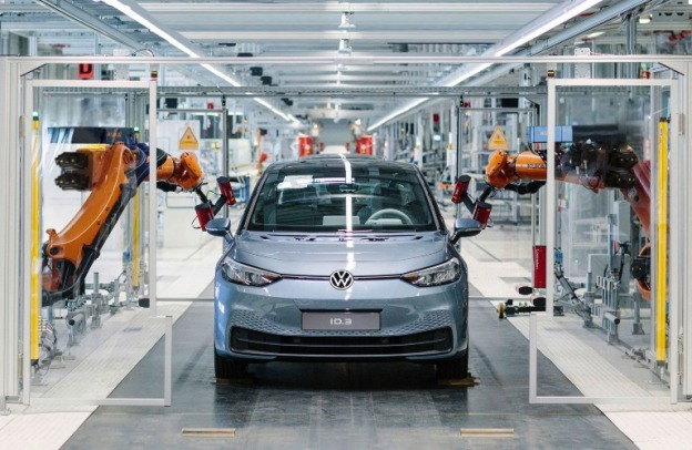 VW ID3 in the factory