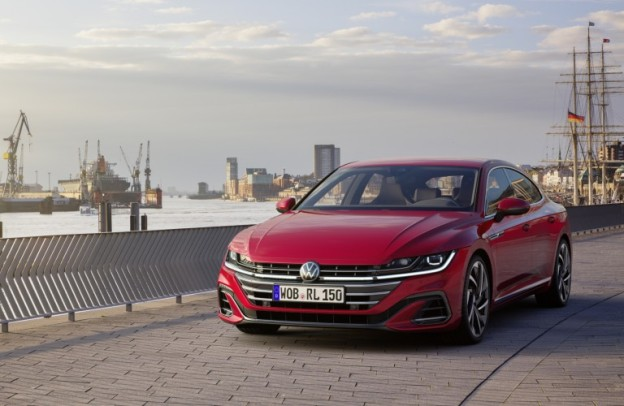 2021 Volkswagen Arteon driving along a body of water