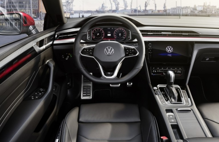 Interior driver's control center of a 2021 Volkswagen Arteon